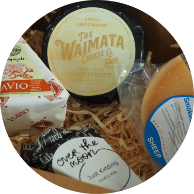 Cheese delivery selection from Cheese Wheel